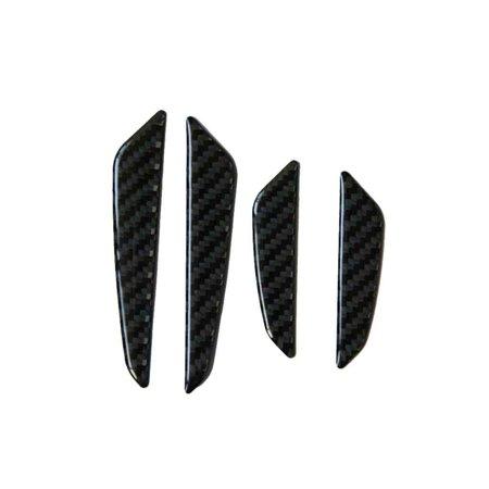 4pcs Anti-Scratch Black Carbon Fiber Car Door Edge Protector Guards Trims Strip Stickers Bars (Carbon Fiber Plain Edge)