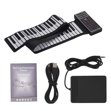 Portable Electric 88 Keys Hand Roll Up Piano Multifunction