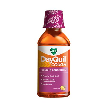 Vicks DayQuil Mucus Control Liquid Citrus Blend Flavor - 12 Oz