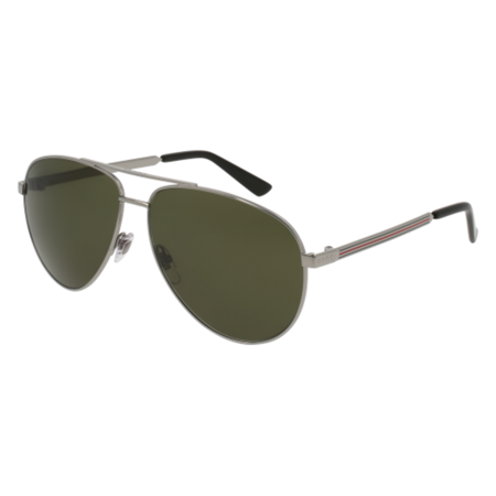 Gucci Aviator Sunglasses GG0137S 003 Ruthenium/Black 0137