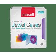 30-Pack Slim Line Jewel Cases, Color