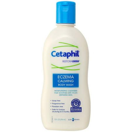 Cetaphil Eczema Calming Body Wash 10 oz (Pack of 4)