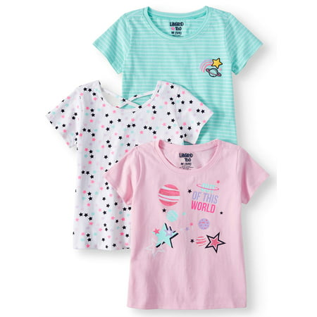Graphic, Printed and Stripe Tees, 3-Pack (Little Girls & Big Girls)