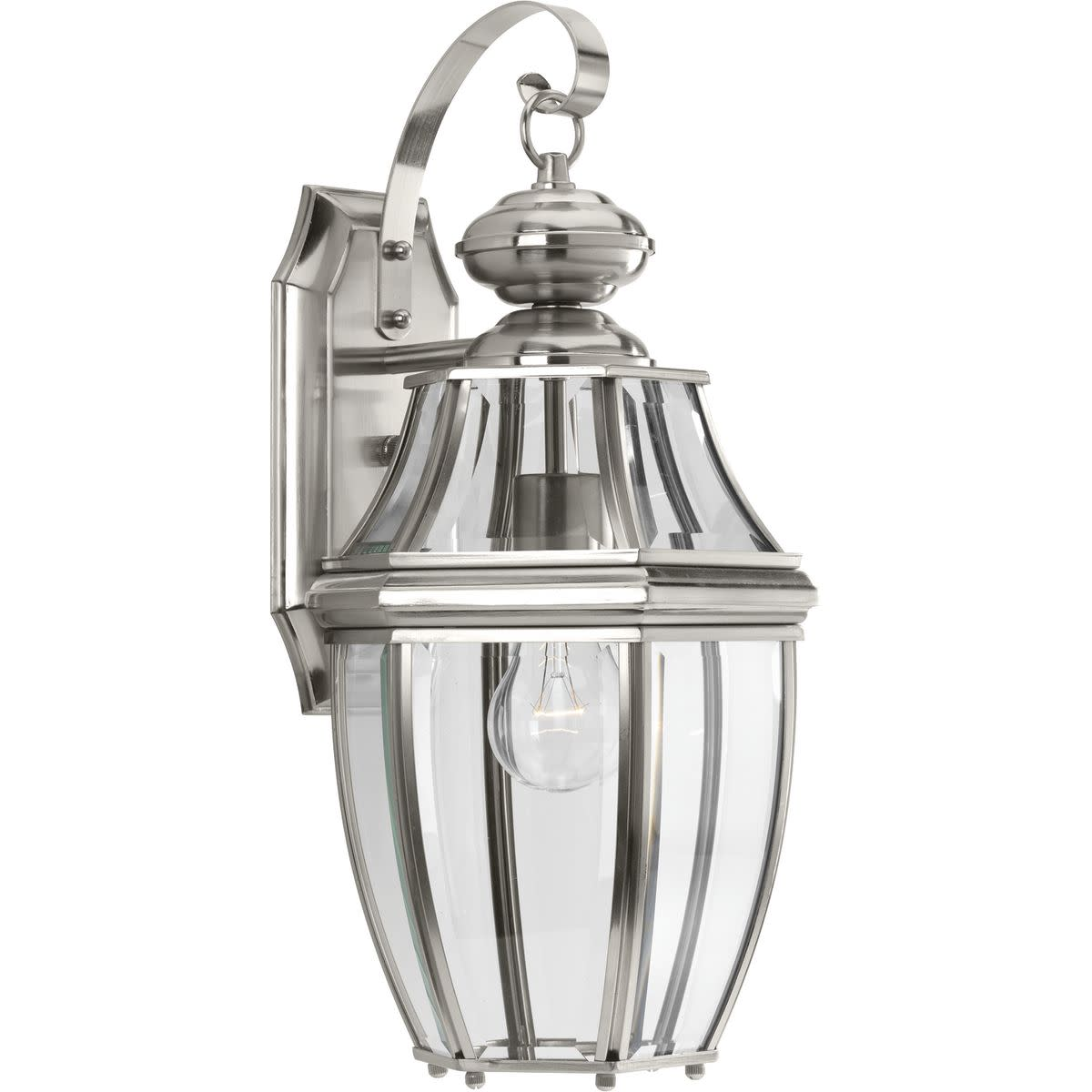 "Progress Lighting P6611 New Haven Single Light 9"" Wide Outdoor Wall Sconce with Clear Beveled Glass Panels"