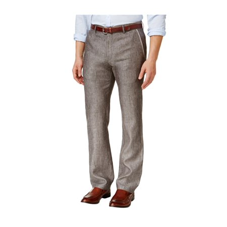 tasso elba mens textured crosshatch casual trousers