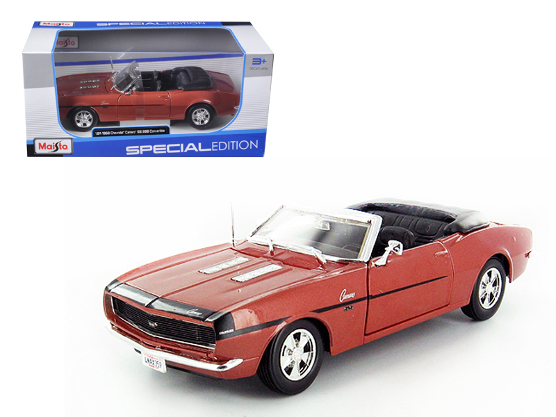 1968 Chevrolet Camaro SS 396 Convertible Bronze 1 24 Diecast Model Car by Maisto by Maisto