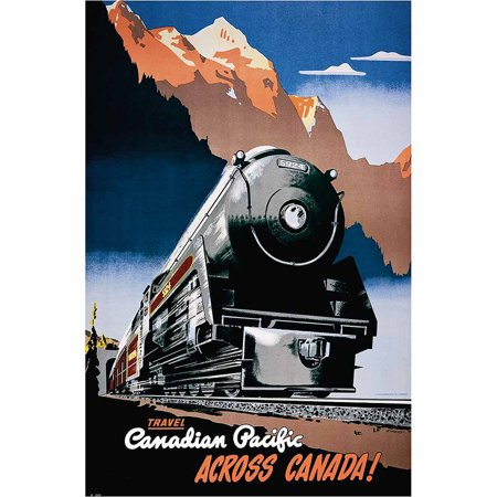 Canadian Pacific Across Canada, 1930 Vintage Advertising Art Print