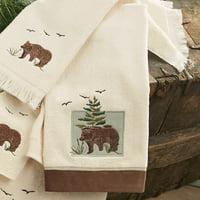Denali Bear Hand Towel - Rustic Bathroom Decor