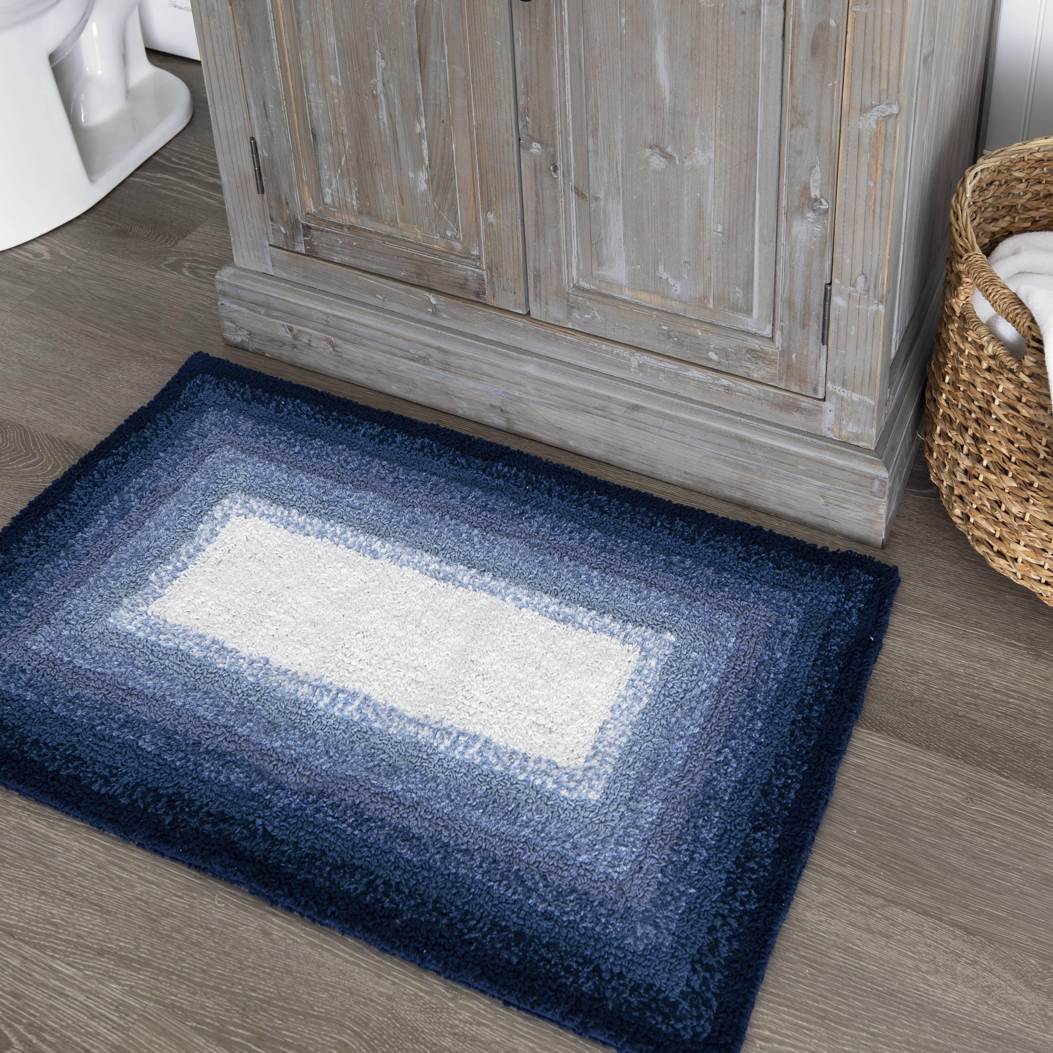 Better Homes Gardens Ombre Cotton Bath Rug Blue Admiral 20 X 30 Walmart Com Walmart Com