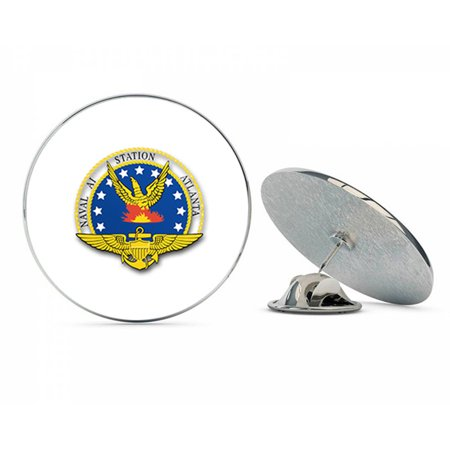 US Navy Naval Air Station Atlanta  Military Veteran USA Pride Served Gift Metal 0.75