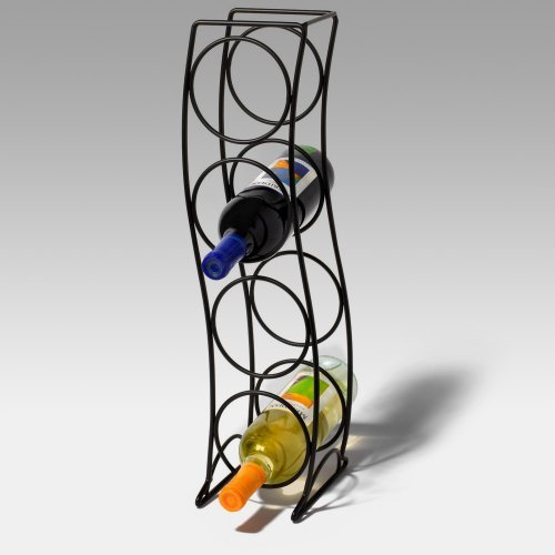 Spectrum Curve 4-Bottle Wine Rack - Black