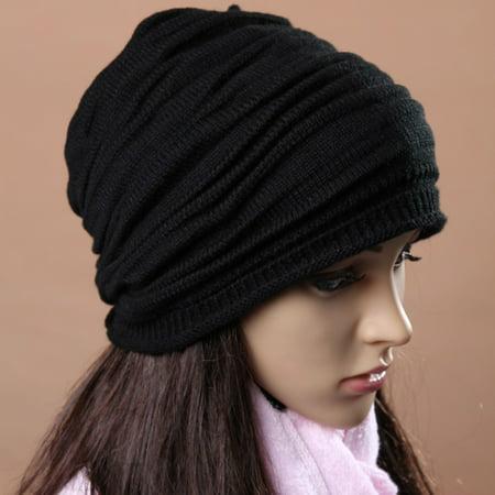 Unisex Men Women Winter Hat Baggy Beanie Knit Crochet Ski Slouch Cap