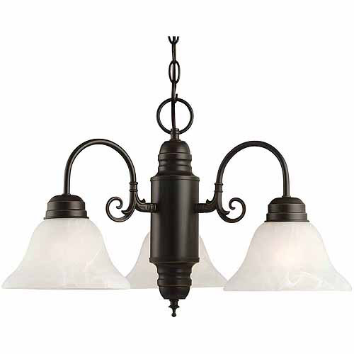 Design House 514463 Millbridge 3-Light Chandelier, Oil Rubbed Bronze Finish