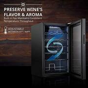 Ivation 24 Bottle Compressor Wine Cooler Refrigerator w/Lock | Large Freestanding Wine Cellar For Red, White, Champagne or Sparkling Wine | 41f-64f Digital Temperature Control Fridge Glass Door Black - image 7 of 8