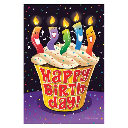 Happy Birthday Garden Flag - Toland Home Garden Happy Birthday Cupcake Flag