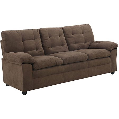 Mainstays Buchannan Microfiber Sofa, Multiple Colors