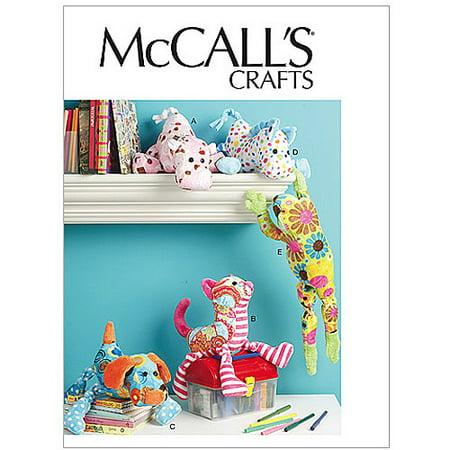 McCall's Pattern Stuffed Animals, 1 Size - Mccall Patterns Halloween