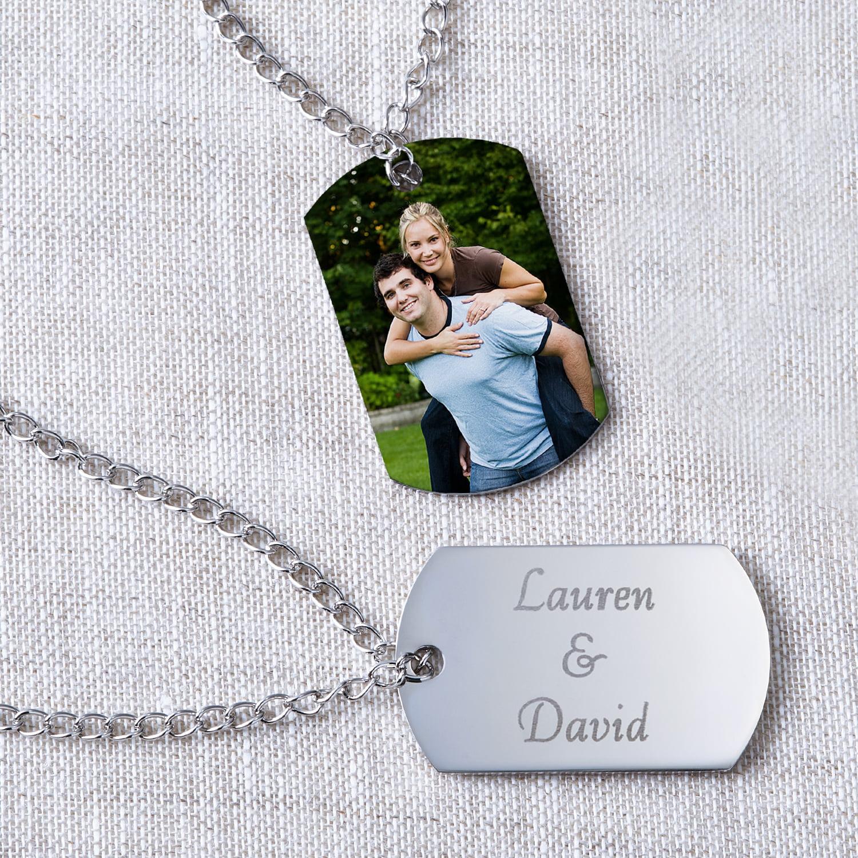 Personalized Photo Pendant -- Dog Tag Style