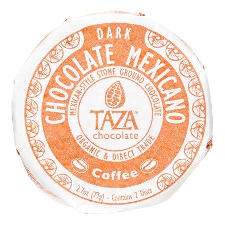 Elm Coffee Chocolates - Taza Chocolate Organic Mexicano Coffee Disc, Chocolate, 2.7 Oz, 2 Ct