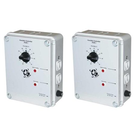 2 C.A.P HUM-1 Hydroponic Climate Humidity Dehumidifier Controllers w/ 2 Outlets