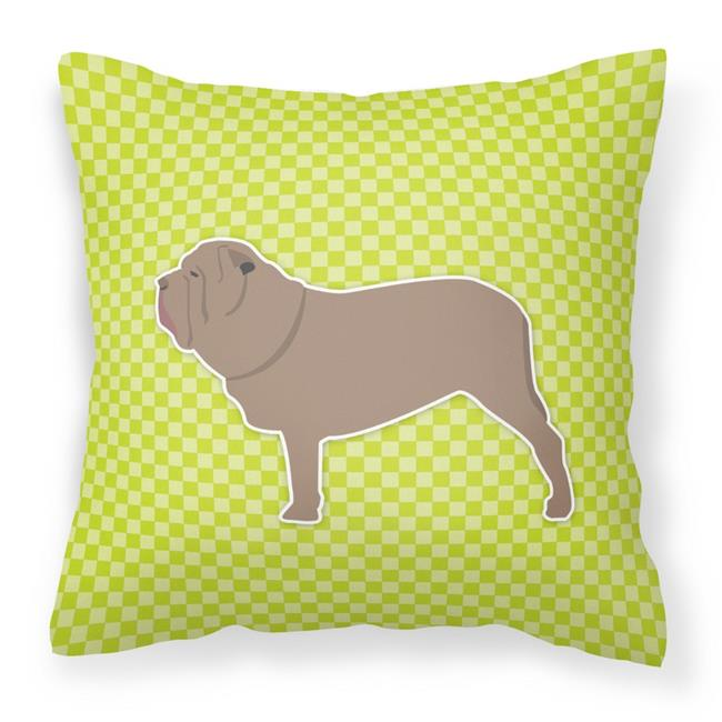 Carolines Treasures BB3865PW1818 Neapolitan Mastiff Checkerboard Green Fabric Decorative Pillow - image 1 of 1