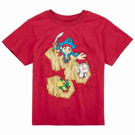 Disney Collection Little Boys Jake & The Never Land Pirates Yo Ho Ho T-Shirt (Jake And The Neverland Pirates T Shirt)