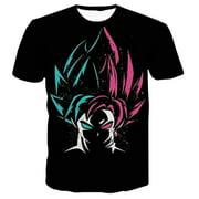 SHIYAO Dragon Ball Z Goku T-Shirt 3D Graphic Printed Anime Short Sleeve Tee