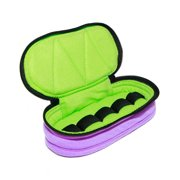 Essential Oil Carrying Case, Roll-On 5-15ml, 5-Bottle, Solid, Lavender /Aqua