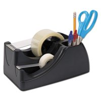 Officemate OIC Recycled 2-In-1 Heavy Duty Tape Dispenser, Black (96690)
