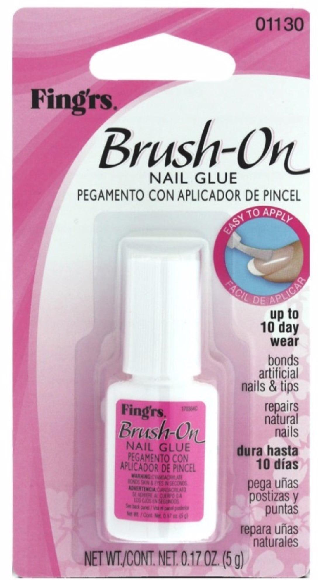 Fing\'rs Brush-On Nail Glue, 1130, 0.18 oz - Walmart.com