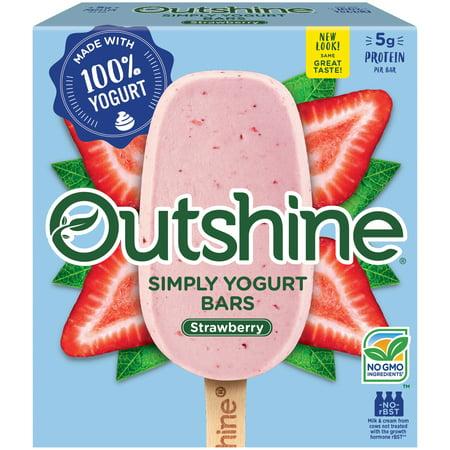 Outshine Simply Yogurt Bars Strawberry 4 Pack - Walmart.com