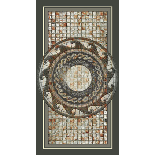 No Slip Mat by Versatraction Kahuna Grip Mosaic Medallion Shower Mat