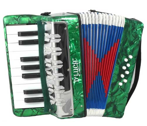 D'Luca Kids Piano Accordion 17 Keys 8 Bass Green by D'Luca