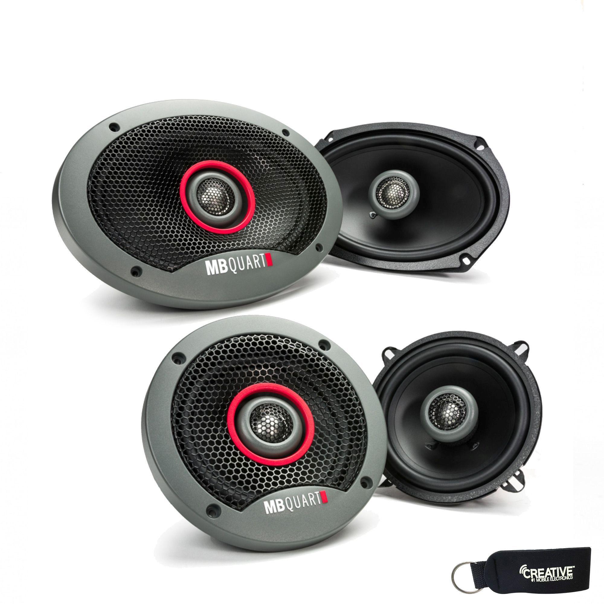 """MB Quart - Pair Of Formula FKB169 6x9"""" Coaxial Speakers And A Pair Of Formula 5.25"""" Speakers FKB113"""