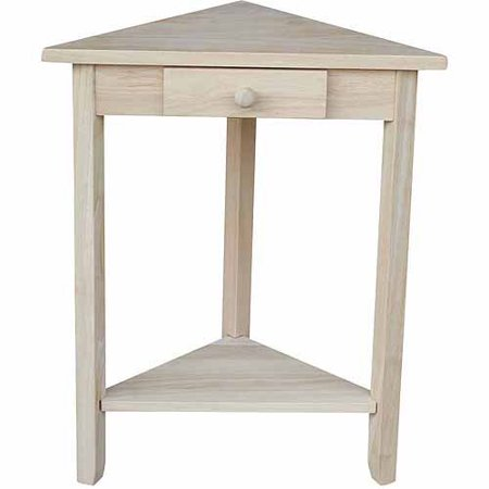 Unfinished Wood End Table (International Concepts Ot-95 Corner Accent Table, Ready To Finish )