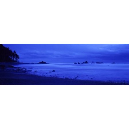 - Surf on the beach Ruby Beach Olympic National Park Olympic Peninsula Washington State USA Poster Print