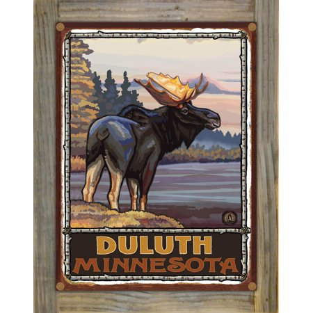 Duluth Minnesota Rustic Metal Print on Reclaimed Barn Wood by Paul A