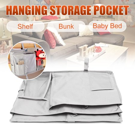 19.69x11.81'' Oxford Cloth Bed Hanging Tidy Pocket Multi-fuction Chair Bedside Storage Organizer Dorm Bunks Shelf Holder Dormitory Artifact