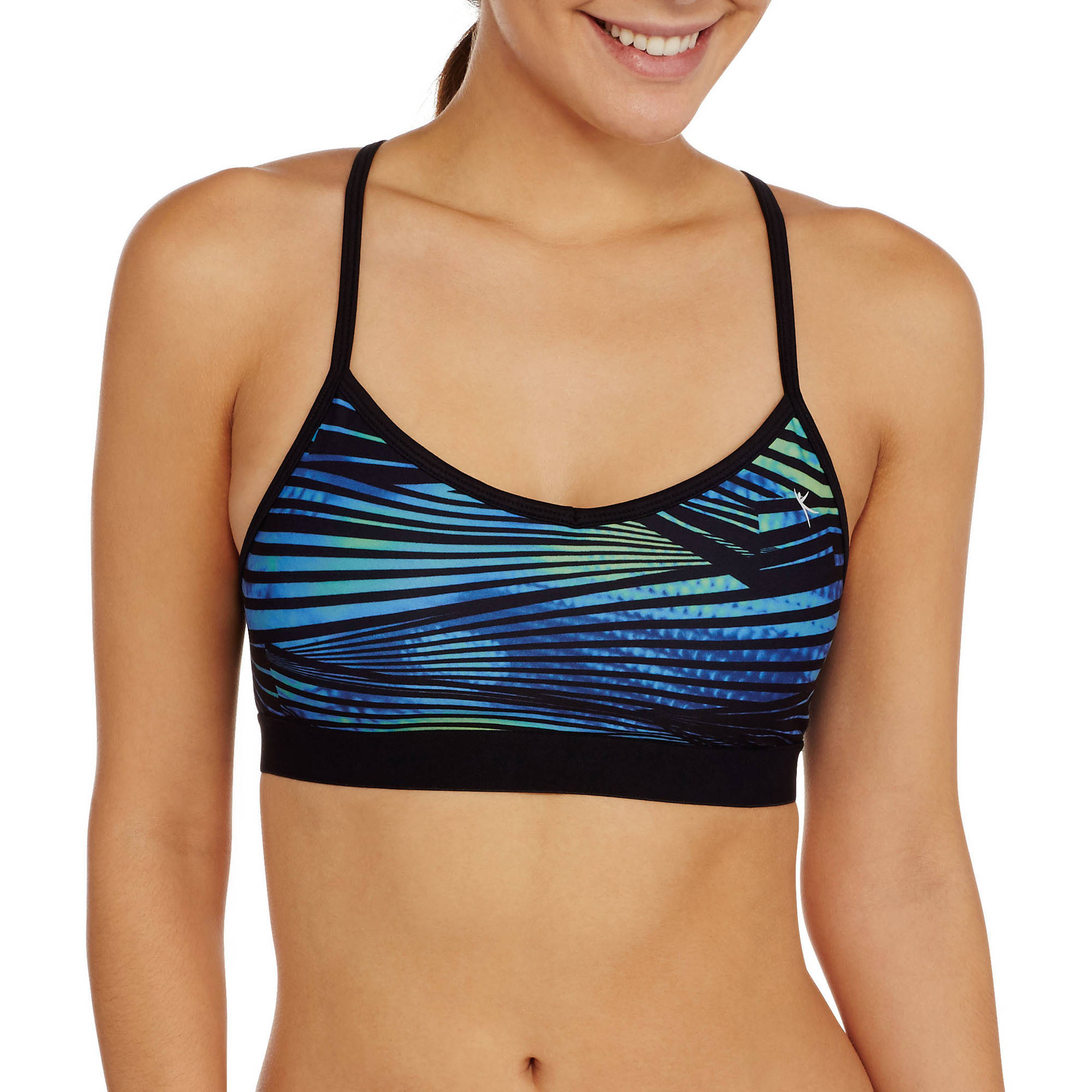 Danskin Now Women's Active Racerback Cami Bra with Mesh Detail