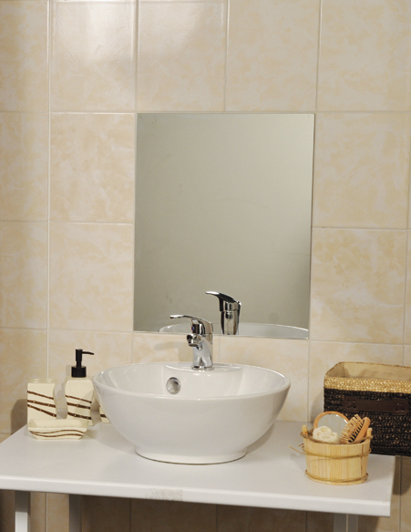 "Decorative Wall Bathroom Self Adhesive Rectangular Mirror 15.7""x20"" by Evideco"