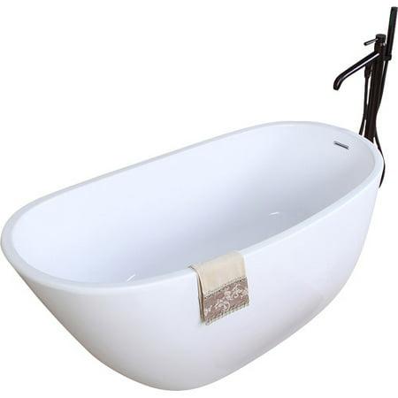 kingston brass aqua eden 59'' x 29'' soaking bathtub - walmart