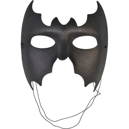Black Mask Batman Fabric Italian Masks Halloween Costume Masquerade Face Mask Sizes: One Size](Italian Masquerade Masks)
