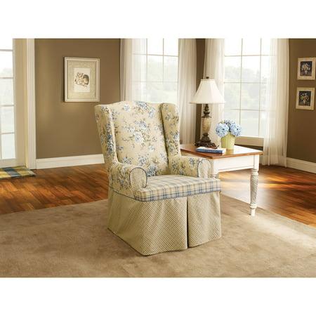 Sure Fit Lexington Wing Chair Slipcover, Multi-Color