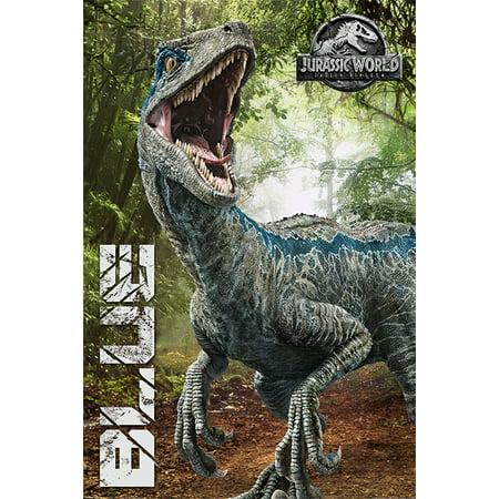 Jurassic World: Fallen Kingdom - Movie Poster / Print (Blue / Dinosaur) (Size: 24