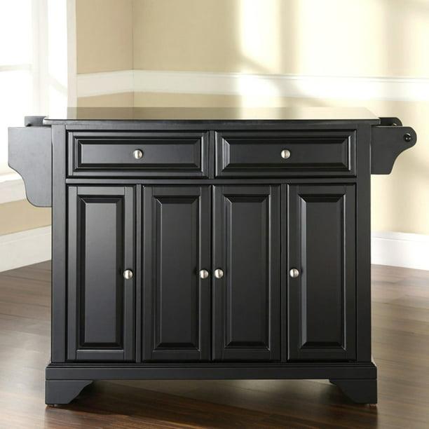 Crosley Furniture Lafayette Solid Black Granite Top Kitchen Island Walmart Com Walmart Com