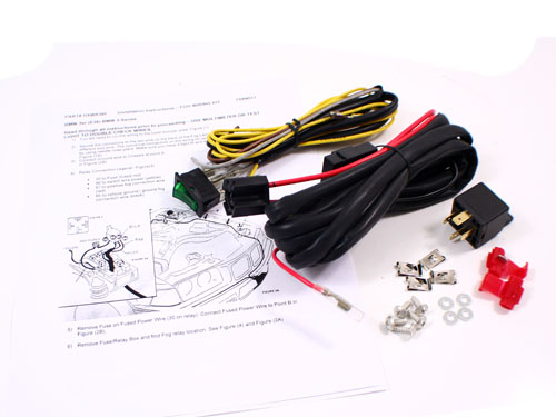 92 99 bmw e36 3 series fog light wiring harness kit w switch relay Dodge Wiring Harness