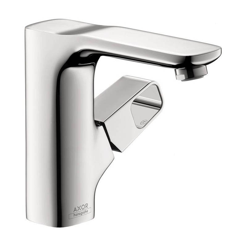 Hansgrohe Axor 11020001 Urquiola Bathroom Faucet Single Hole Faucet with Knob Handle, Free Metal Pop-Up Drain Assembly, Chrome