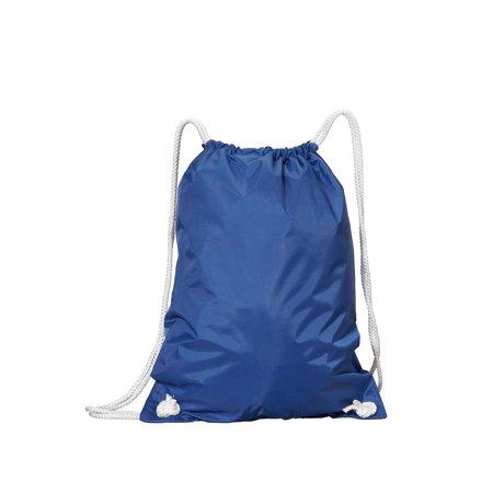 A Product of Liberty Bags WhiteDrawstring Backpack - ROYAL - OS [Saving and Discount on bulk, Code Christo] (Backpacks Cheap Bulk)