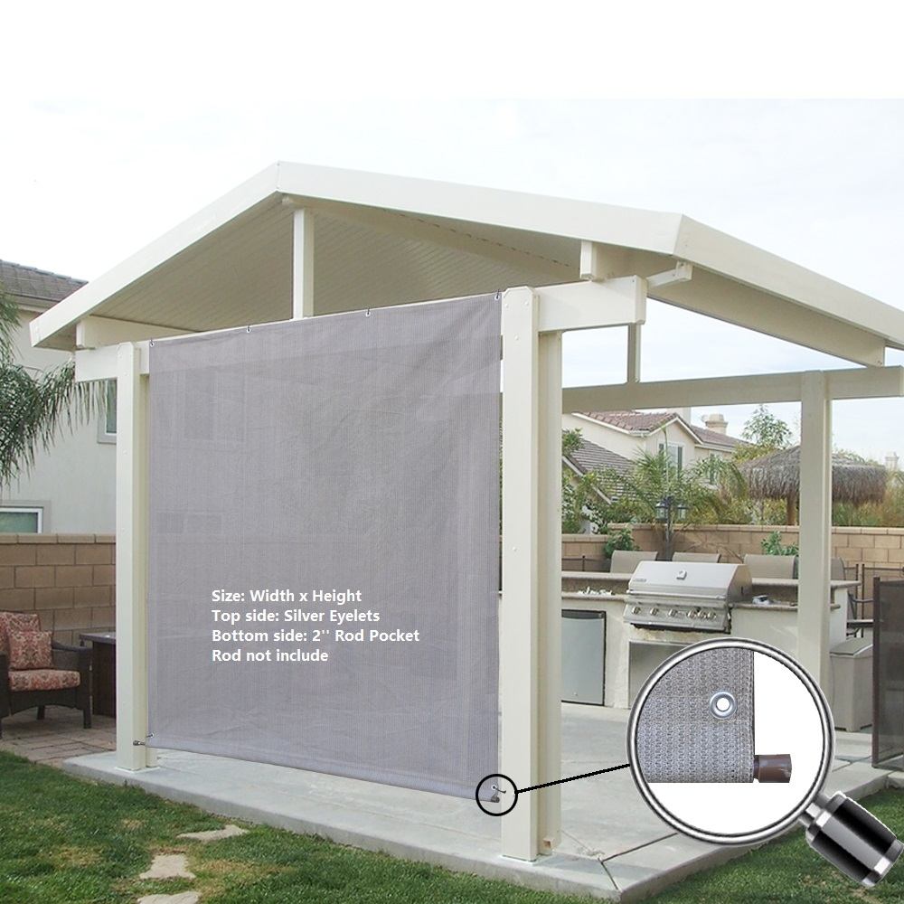 Alion Home Smoke Grey Rod Pocket Sun Shade Panel with Aluminum Eyelets for Patio Awning Window Cover Instant Canopy Side Wall or Pergola.  sc 1 st  Walmart & Alion Home Smoke Grey Rod Pocket Sun Shade Panel with Aluminum ...