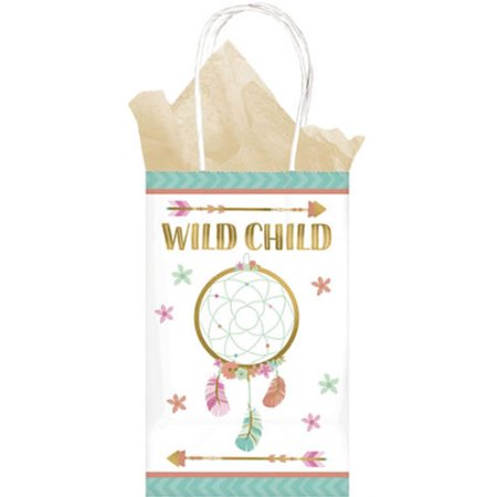 1st Birthday 'Boho Girl' Kraft Paper Favor Bags (8ct)](Boho Birthday Party)